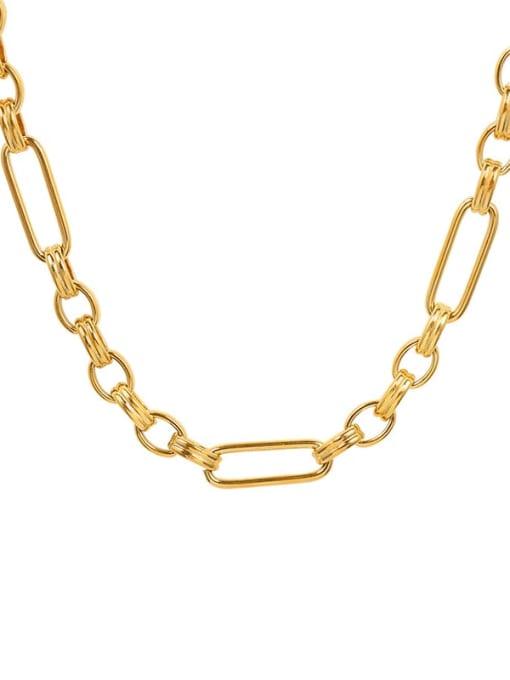 P1020 gold necklace 42cm Titanium Steel  Vintage GeometricBraclete and Necklace Set