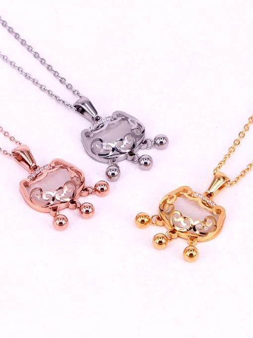 K.Love Titanium Steel Locket Minimalist Necklace