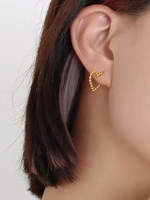 MAKA Titanium Steel Heart Minimalist Stud Earring 2