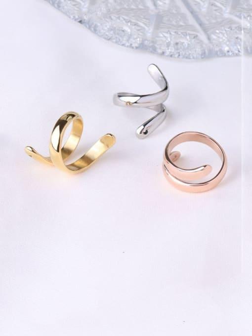 MAKA Titanium Steel Geometric Minimalist Band Ring 2