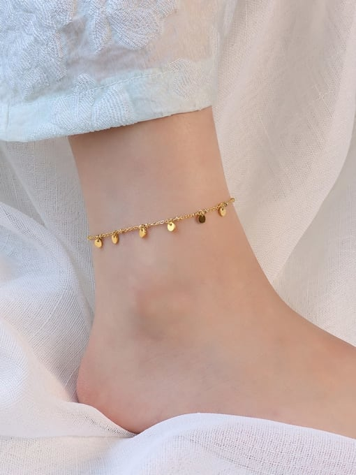 Gold Anklet 20+ 5cm Titanium Steel  Minimalist Geometric  Anklet