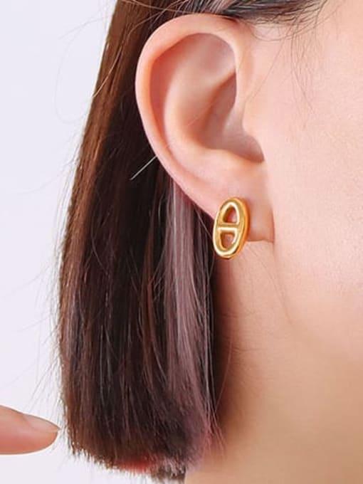MAKA Titanium Steel Minimalist Geometric  Earring and Necklace Set 2