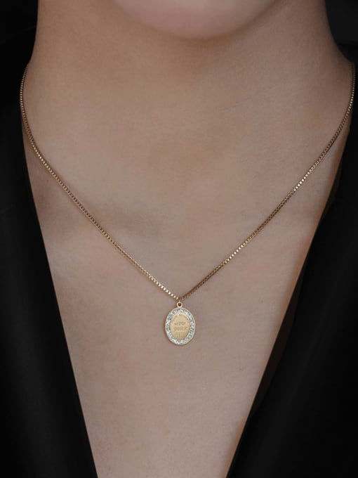 YAYACH Coin Titanium Steel Necklace 1