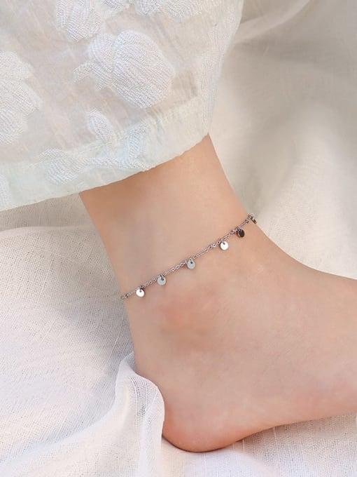 Steel color foot chain 20 +5cm Titanium Steel  Minimalist Geometric  Anklet