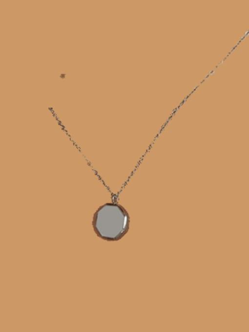 P937 Steel 40+ 5cm Titanium Steel Geometric Minimalist Necklace