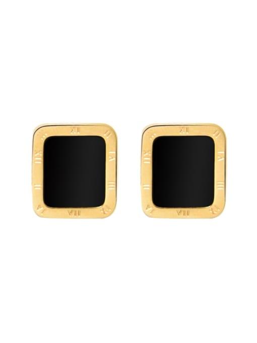 MAKA Titanium Steel Shell Geometric Minimalist Stud Earring 2