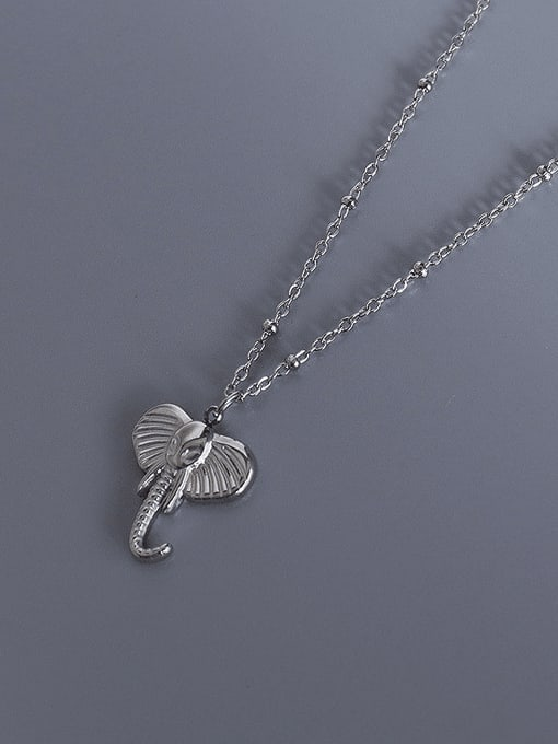 MAKA Titanium Steel Cute Elephant  Pendant  Necklace 2