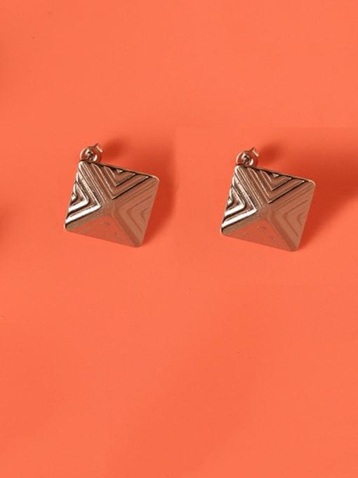MAKA Titanium Steel Geometric Minimalist Stud Earring 3