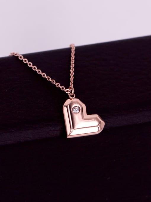 K.Love Titanium Steel Heart Minimalist Necklace 3