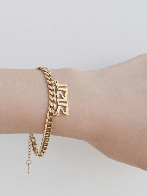 YAYACH Stainless steel Number Trend Link Bracelet 2