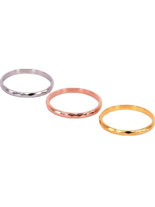 K.Love Titanium Steel Round Minimalist Band Ring 1