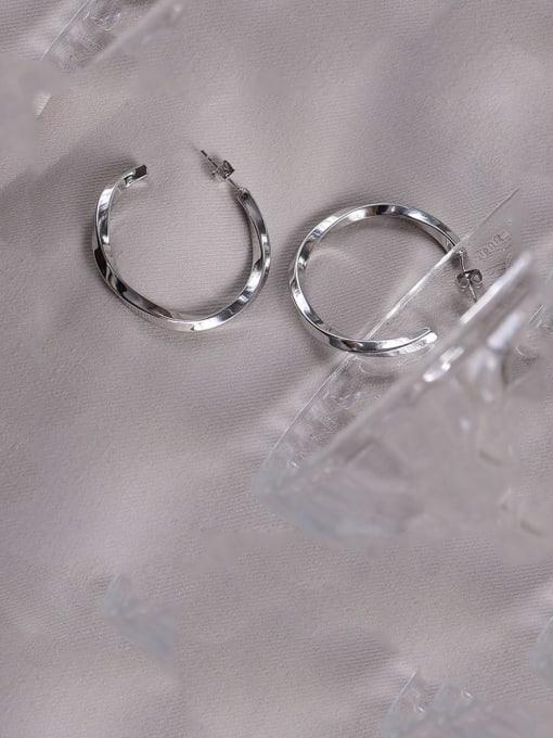 Steel Titanium Steel Geometric Minimalist Hoop Earring