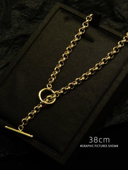 MAKA Titanium 316L Stainless Steel Geometric Vintage Necklace with e-coated waterproof 3