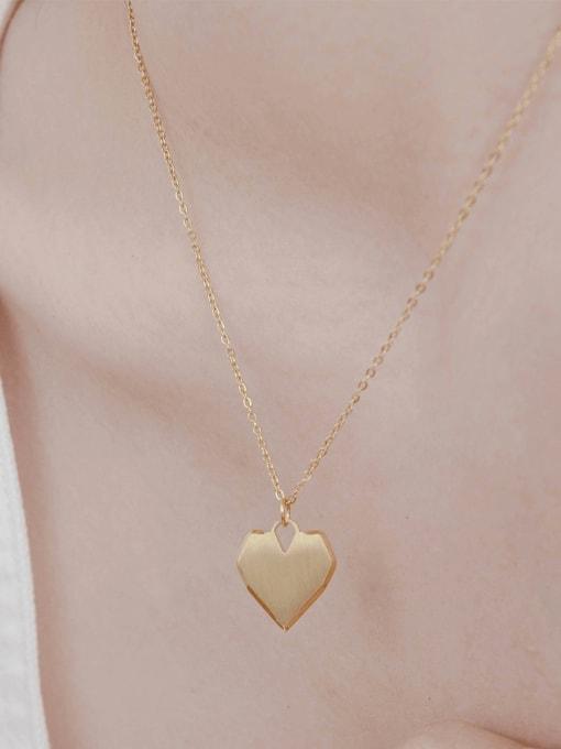 YAYACH Love pendant niche design titanium steel necklace 1