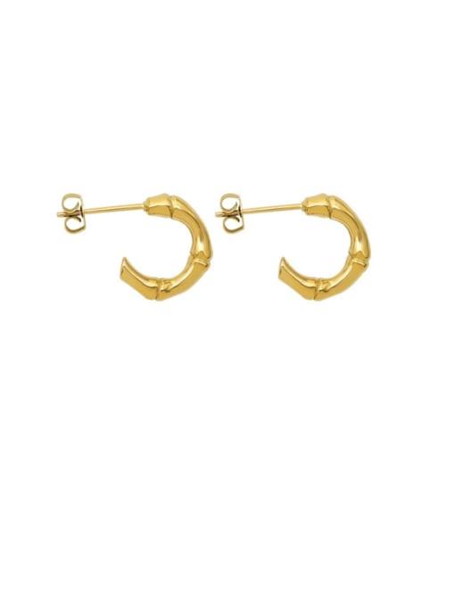 MAKA Titanium Steel Minimalist C shape Stud Earring