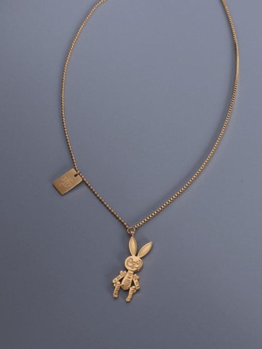MAKA Titanium Steel Irregular Cute Necklace 2