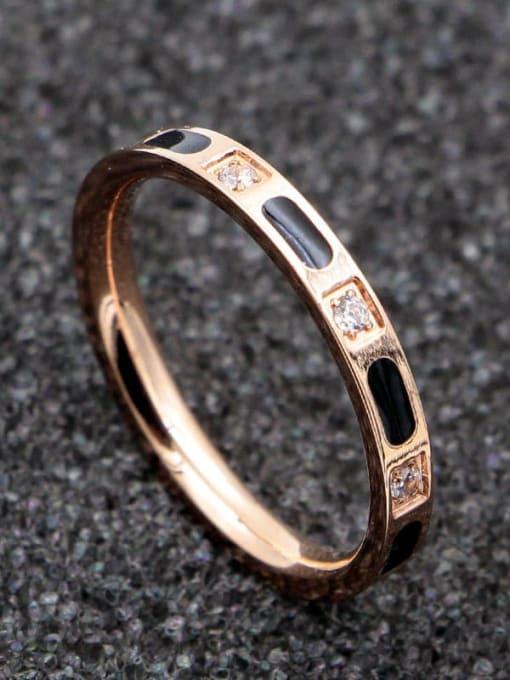 K.Love Titanium Steel Shell Geometric Minimalist Band Ring 2