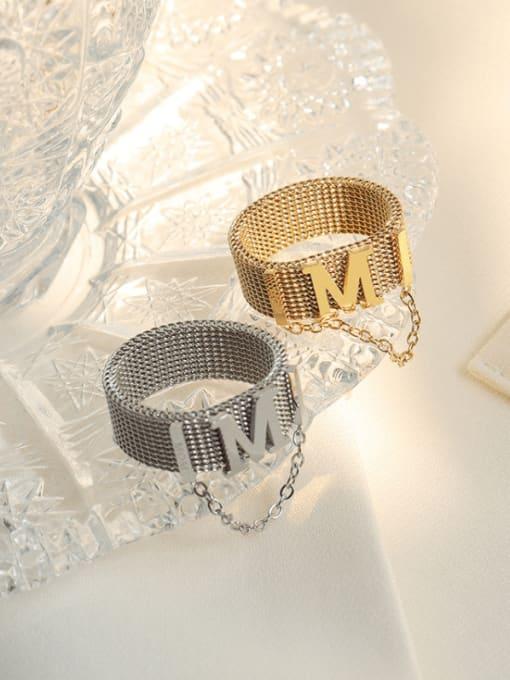 MAKA Titanium Steel Tassel Vintage Band Ring