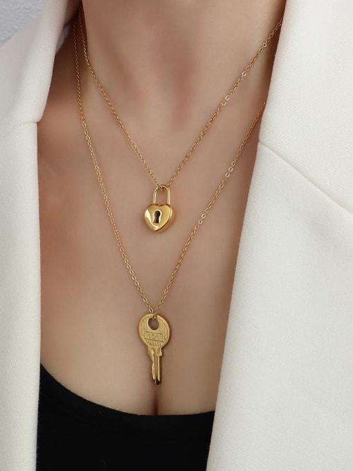 MAKA Titanium Steel Key Minimalist Necklace 2