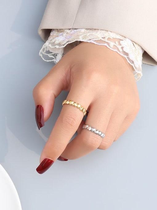 MAKA Titanium Steel Heart Minimalist Band Ring 1