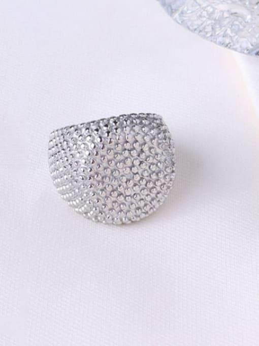 Steel round ring Titanium Steel Geometric Artisan Band Ring