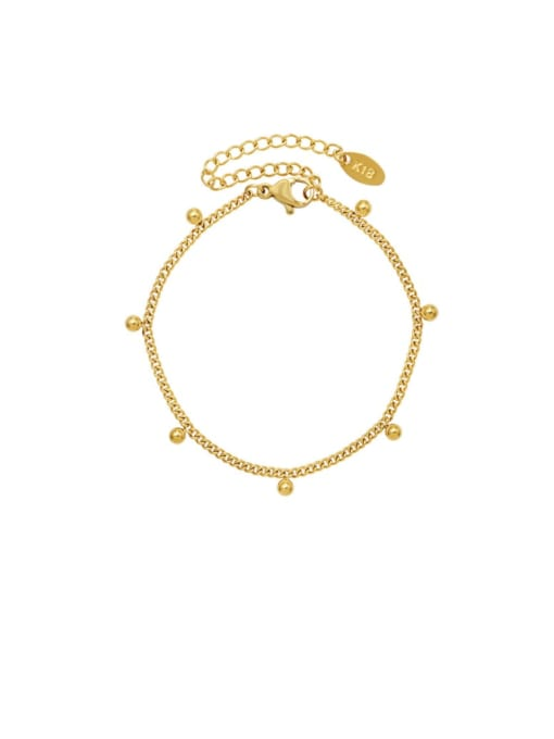 Gold bracelet 15 CM Titanium Steel  Bead Minimalist Link Bracelet