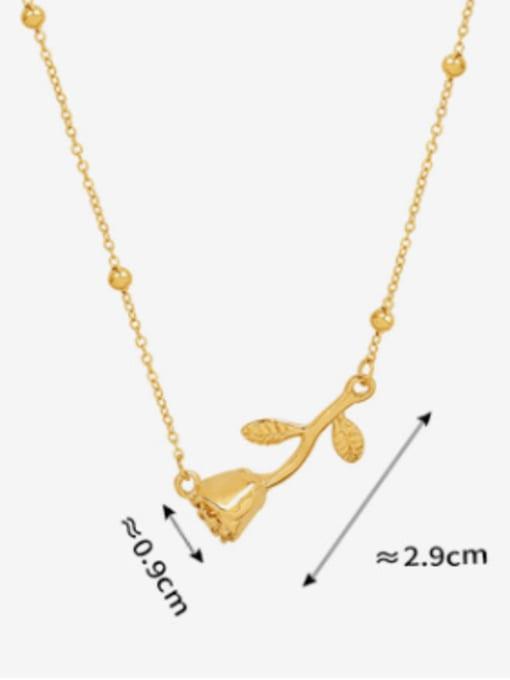MAKA Titanium Steel Flower Minimalist Necklace 3