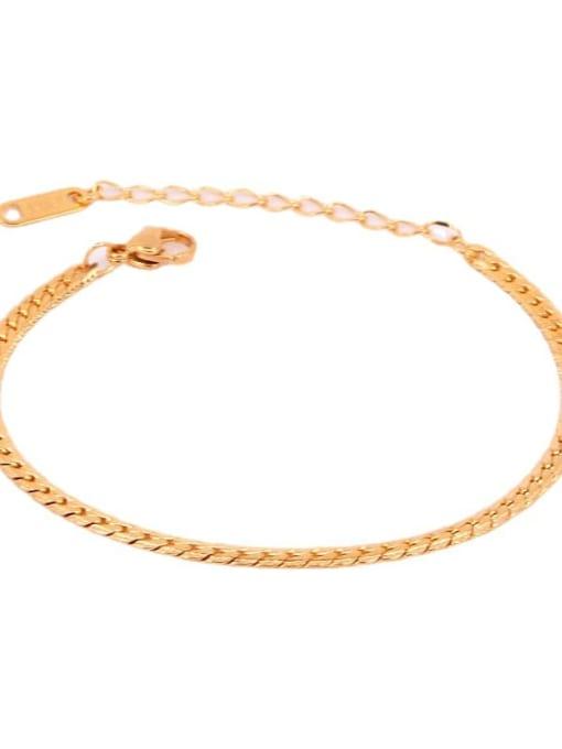 K.Love Titanium Steel Geometric Minimalist Link Bracelet 4