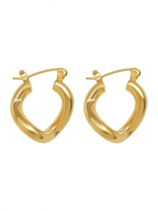 Gold Earrings Titanium Steel Geometric Minimalist Huggie Earring