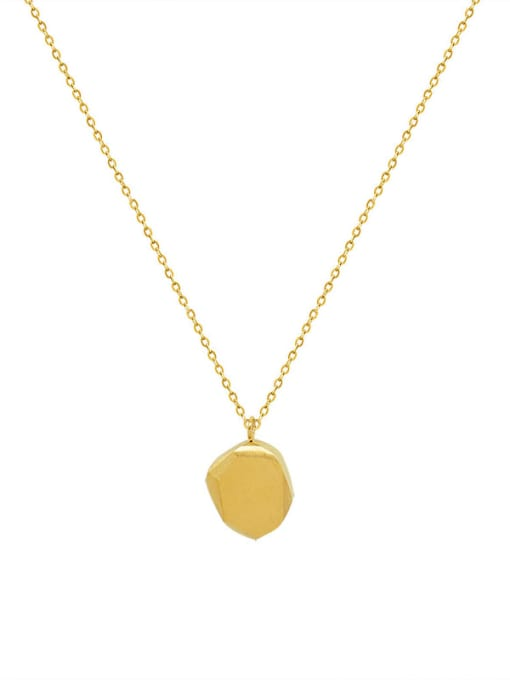 P936 gold  40 +5cm Titanium Steel Geometric Minimalist Necklace