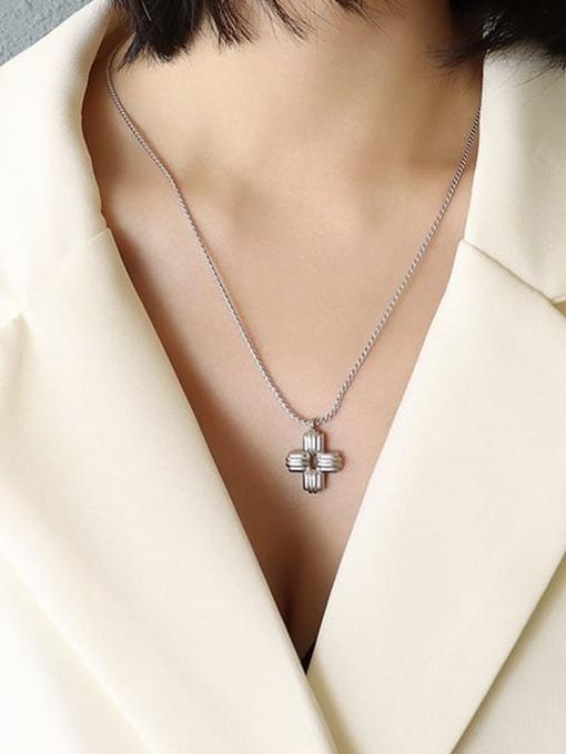 MAKA Titanium Steel Cross Vintage Necklace 1