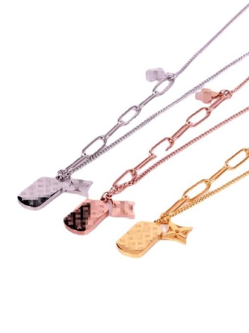 K.Love Titanium Steel Shell Geometric Vintage Necklace 4