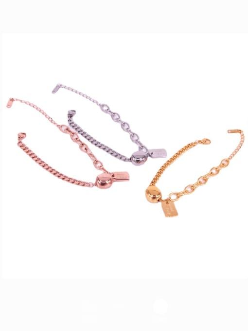 K.Love Titanium Steel Oval Vintage Link Bracelet