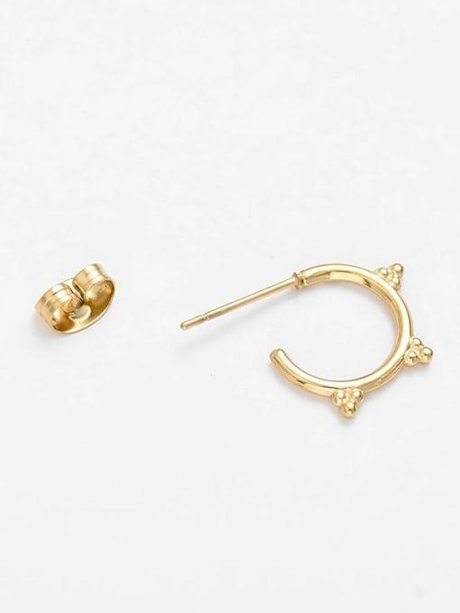 YAYACH Round Earrings C-shaped golden titanium steel earrings 2