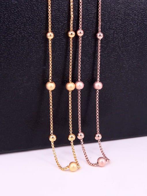 K.Love Titanium Steel Bead Round Minimalist Necklace 1