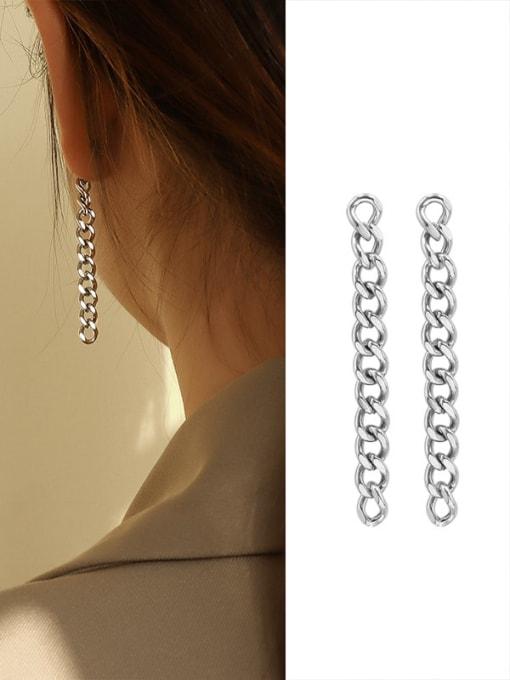 MAKA Titanium Steel  Vintage Geometric Earring And Braclete Set 3