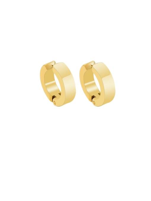 gold Titanium Steel Geometric Minimalist Clip Earring