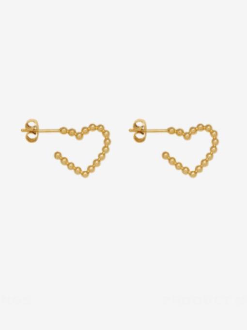 MAKA Titanium Steel Heart Minimalist Stud Earring 0