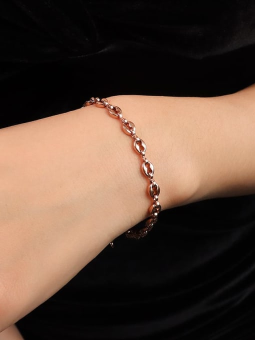 rose gold bracelet 15+ 5cm Titanium Steel  Minimalist Irregular Braclete and Necklace Set