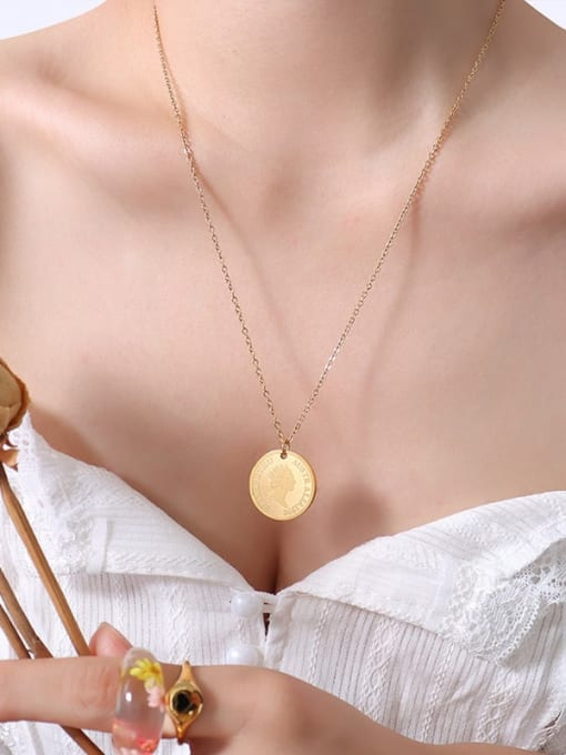 Big gold 50+ 5cm Titanium Steel Geometric Minimalist Necklace
