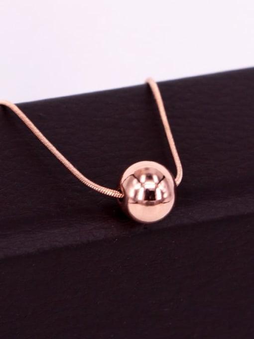 K.Love Titanium Steel Round Bead  Minimalist Necklace 3