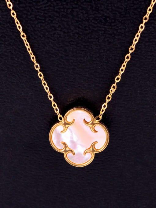 K.Love Titanium Steel Shell Clover Minimalist Necklace 3