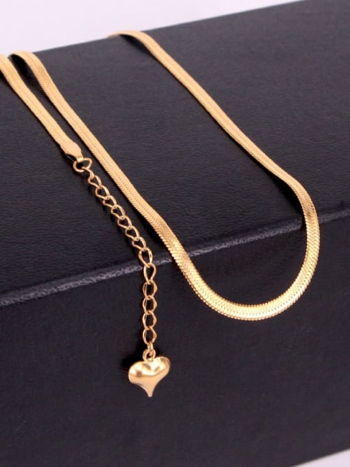K.Love Titanium Steel  Minimalist  Snake bone  Chain 2