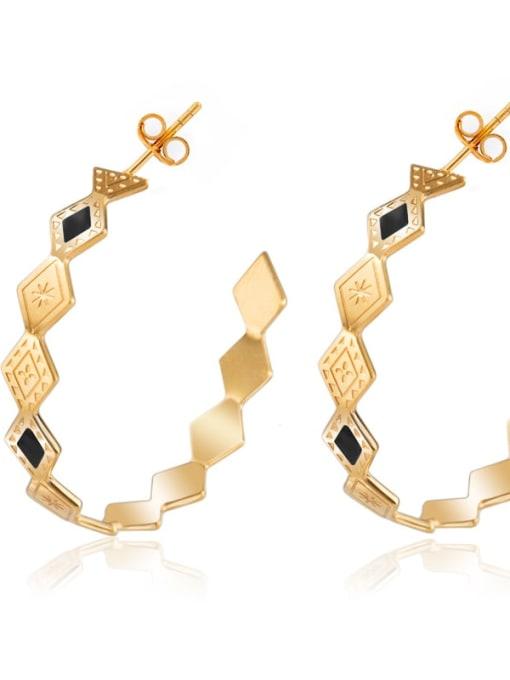 YAYACH Personalized Diamond Fashion geometric ear ring 3