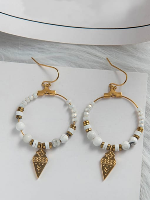 YAYACH Geometric natural stone foreign trade new Bohemian style earrings 1