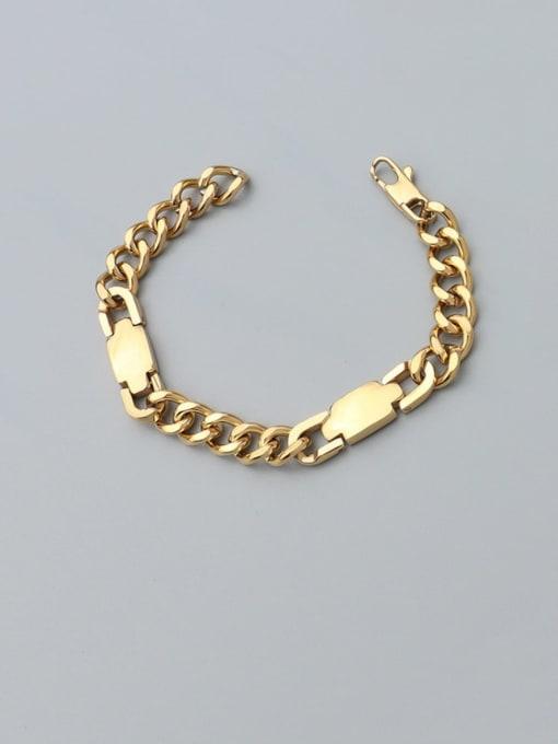 Gold bracelet 17cm Titanium Steel Geometric Chain Artisan Link Bracelet