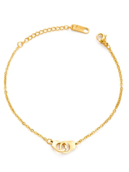 YAYACH Handcuffs shape European and American fashion stainless steel bracelet 0