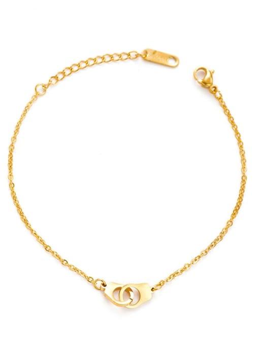 YAYACH Handcuffs shape European and American fashion stainless steel bracelet