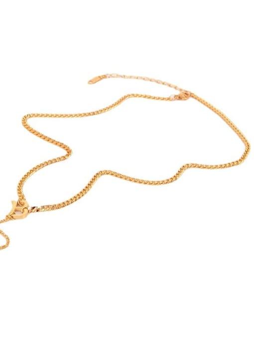 K.Love Titanium Steel Tassel Minimalist Tassel Necklace 2
