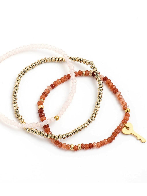 YAYACH Natural stone Beaded key pendant bracelet